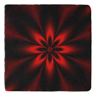 Red Floral Burst Trivet