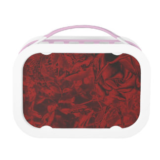 Red Floral Design Lunch Boxes