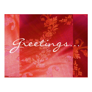 Red Floral I Postcard - Customizable