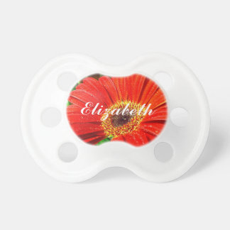 Red floral pacifier