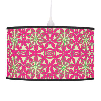 Red Floral Pattern Pendant Lamp