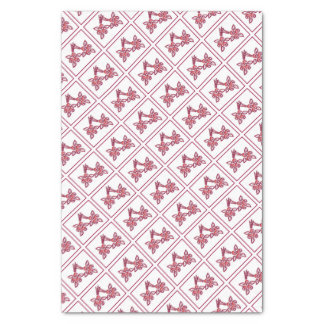 Red Floral Pattern Tissue Paper