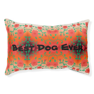 Red Floral Pet Bed For The Best Dog Ever