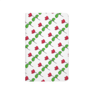 Red Floral Pocket Journal