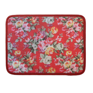 Red floral Rickshaw Macbook Sleeve,cover,case Sleeve For MacBook Pro