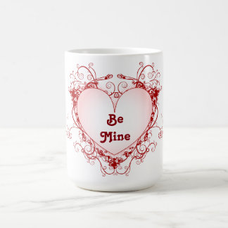 Red Floral Valentine Coffee Mug