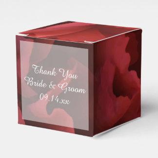 Red Floral Wedding Favor Box