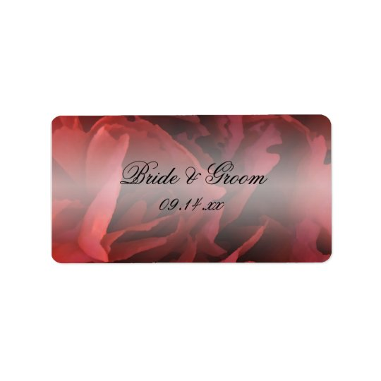 Red Floral Wedding Favour Tags