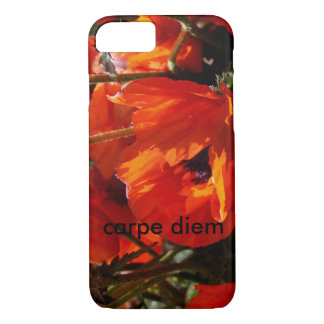 red floral with carpe diem iPhone 7 case