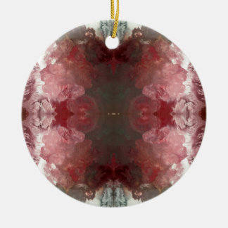 Red Flow Pattern Ceramic Ornament