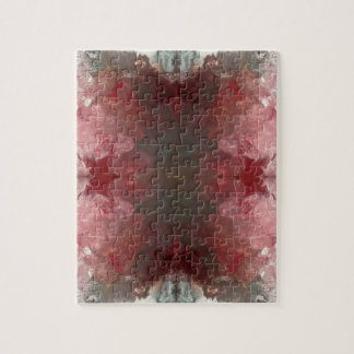 Red Flow Pattern Jigsaw Puzzle