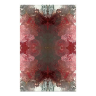 Red Flow Pattern Stationery