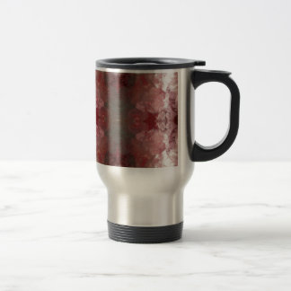 Red Flow Pattern Travel Mug