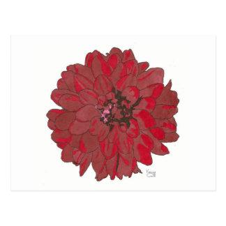 RED FLOWER (alternate) Postcard