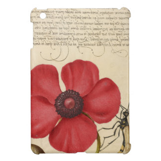 Red Flower And Snail iPad Mini Cover