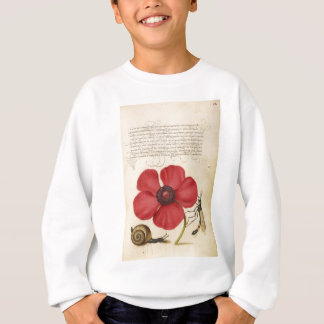 Red Flower And Snail Sweatshirt