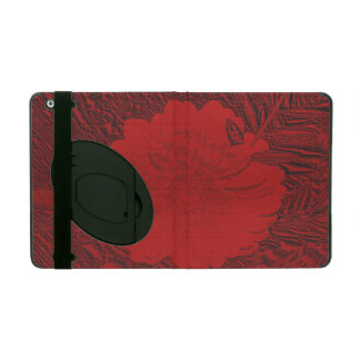 red flower cases for iPad