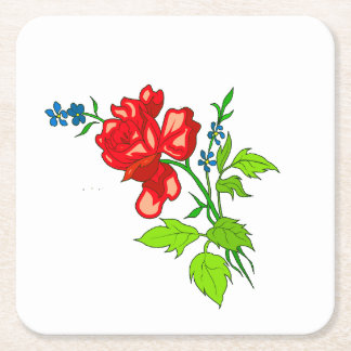 Red Flower Coaster