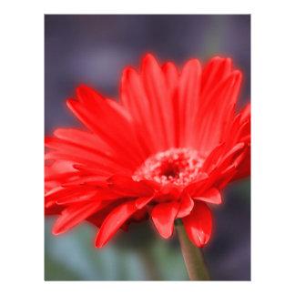 Red flower customized letterhead