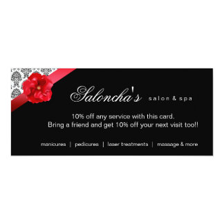 Red Flower Damask Invitation Advertisement