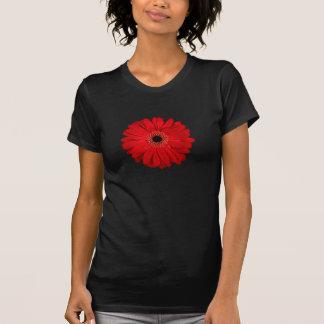 Red Flower Gerbera Photo Design T Shirt