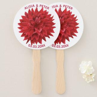 Red Flower Hand Fan