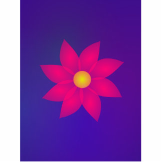 Red Flower in Space Art Cut Out
