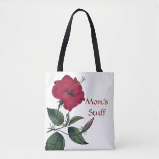 Red Flower in the Botanical Style Tote Bag