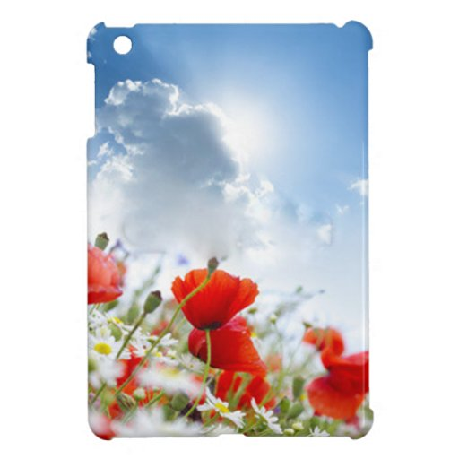 Red flower case for the iPad mini