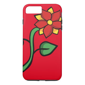 Red flower iPhone 7 plus case