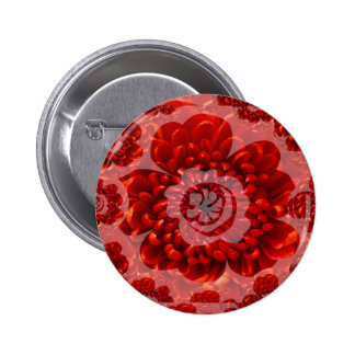 Red Flower Journey - Fantasy Worship World 2 Inch Round Button