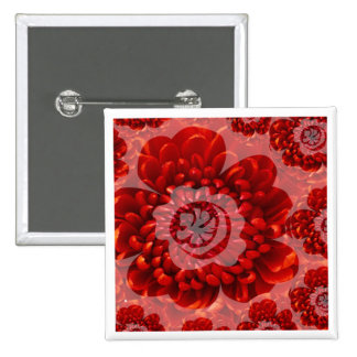 Red Flower Journey - Fantasy Worship World 2 Inch Square Button