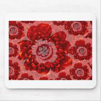 Red Flower Journey - Fantasy Worship World Mouse Pad