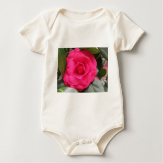 Red flower of Camellia japonica Rachele Odero Baby Bodysuit
