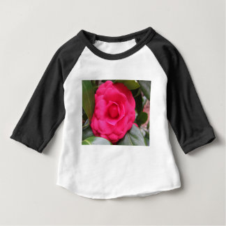 Red flower of Camellia japonica Rachele Odero Baby T-Shirt
