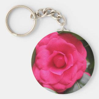 Red flower of Camellia japonica Rachele Odero Keychain