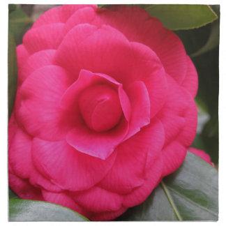 Red flower of Camellia japonica Rachele Odero Napkin