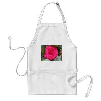 Red flower of Camellia japonica Rachele Odero Standard Apron