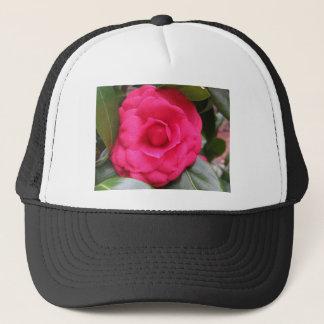 Red flower of Camellia japonica Rachele Odero Trucker Hat