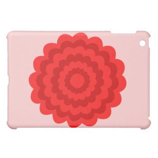 Red Flower On Pretty Pink Cover For The iPad Mini