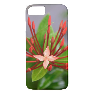 Red Flower Panama iPhone 8/7, Barely There Case
