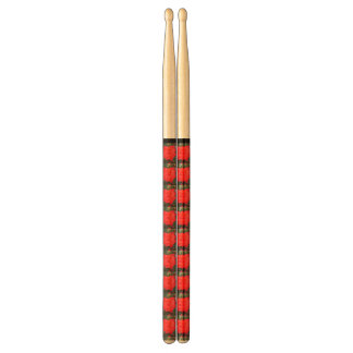 Red Flower Pattern Drumsticks