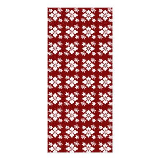 Red flower pattern personalized rack card