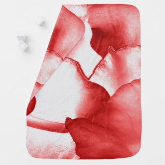 Red Flower Petals Baby Blanket