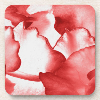 Red Flower Petals Coaster