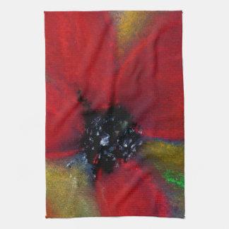 Red Flower, Poppy. Kitchen Towel