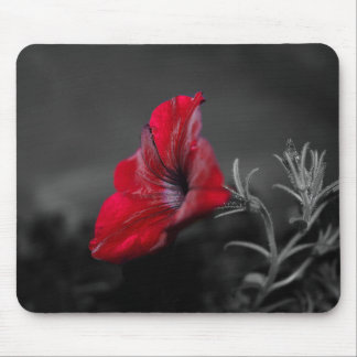 Red flower print mousepad