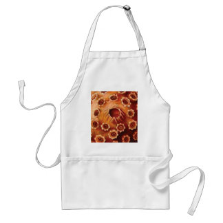 red flower ruptures standard apron