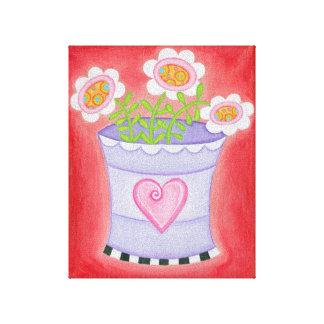 Red Flower Series - Large Vase Canvas Prints