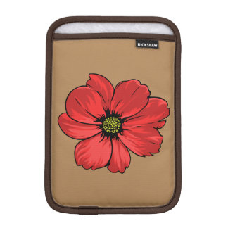 Red Flower Sleeve For iPad Mini